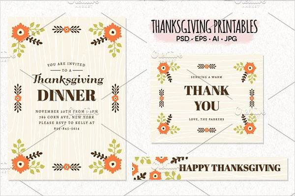 thanksgiving printable invitation cards
