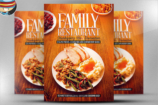 thanksgiving restaurant flyer