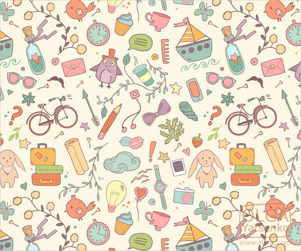 the best summer vector pattern for free