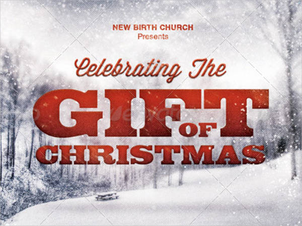 the gift of christmas church flyer template