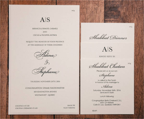 40 wedding invitations download downloadcloud With traditional jewish wedding invitations