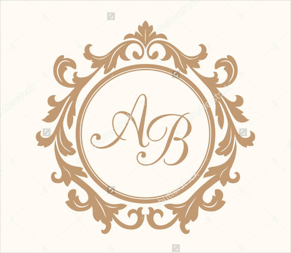 two letters wedding logo