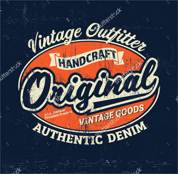 typography vintage outfit brand logo print for t shirt