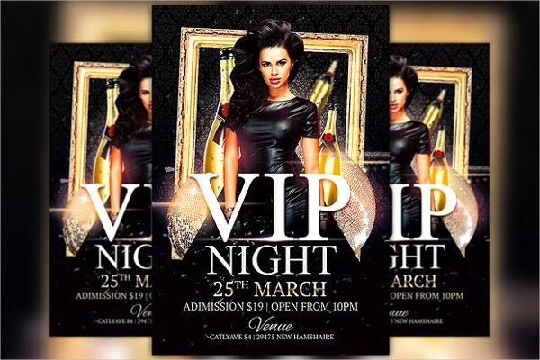 vip club event flyer