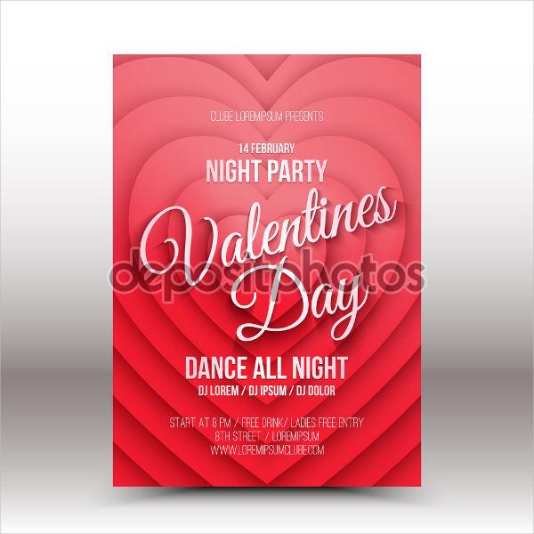 valentine's night party flyer
