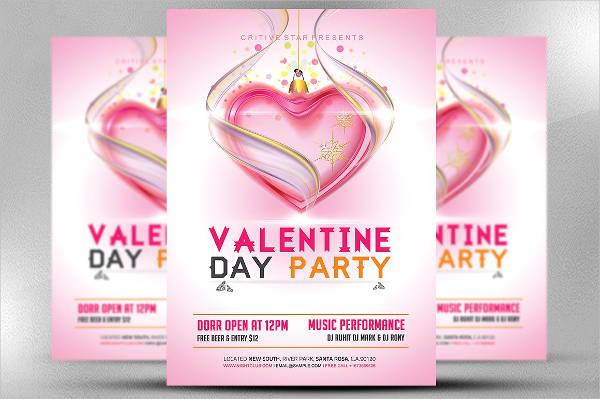valentine party flyer designs