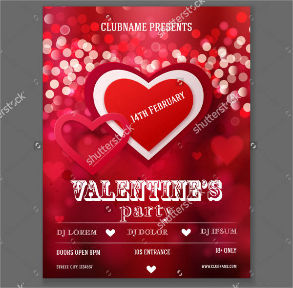 valentine party flyer designs1