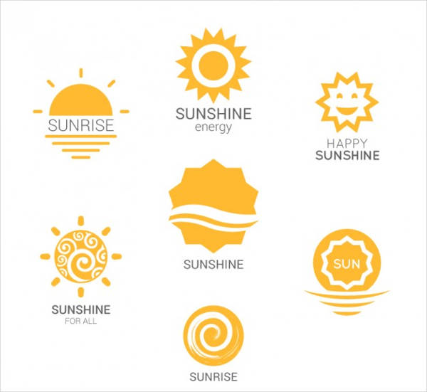 variety of suns vector