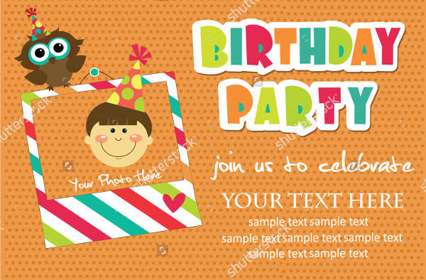 vector kid birthday invitation