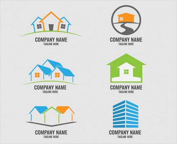 vector real estate logo template