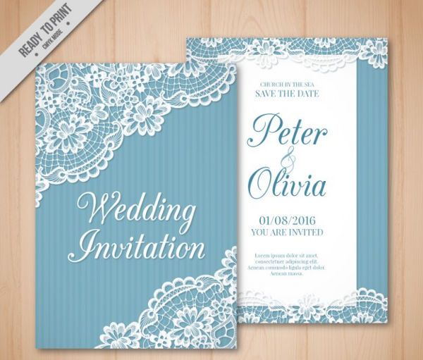 vector vintage wedding invitation
