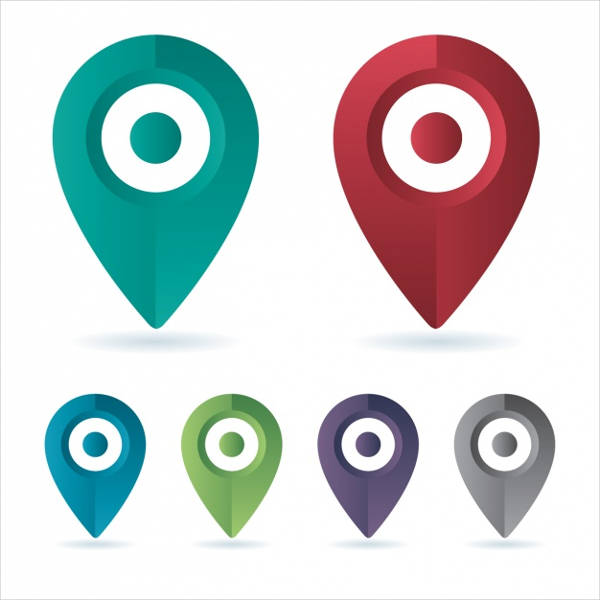 vector map location icons