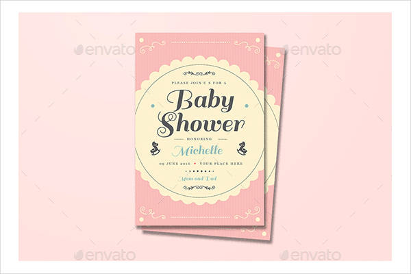 vintage baby shower invitation template1