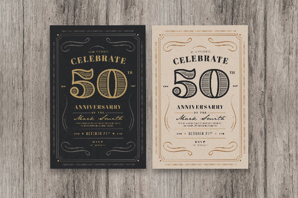 vintage event invitation template