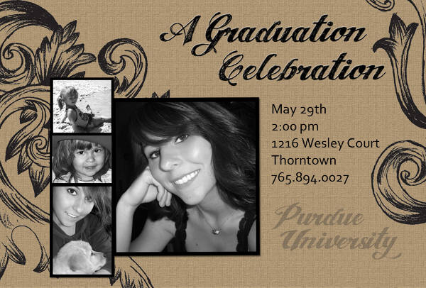 vintage graduation invitation template1