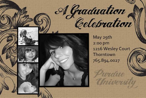 vintage graduation invitation template1