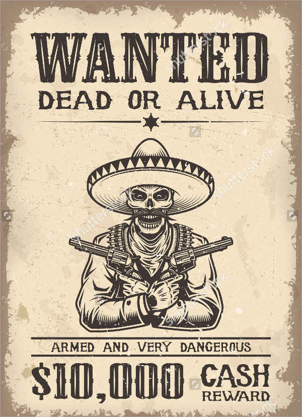 vintage old wanted poster1