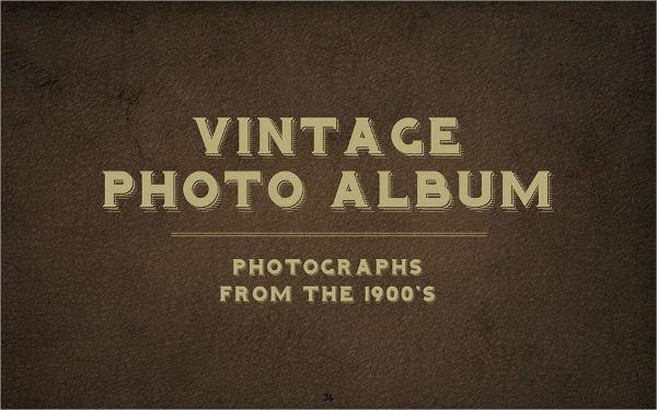 vintage photo album template
