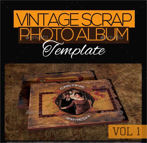 vintage scrap photo album