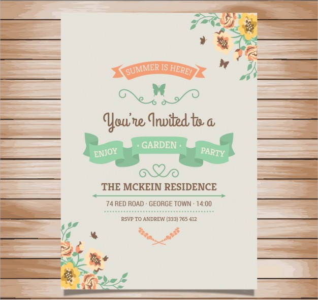 vintage style party invitation