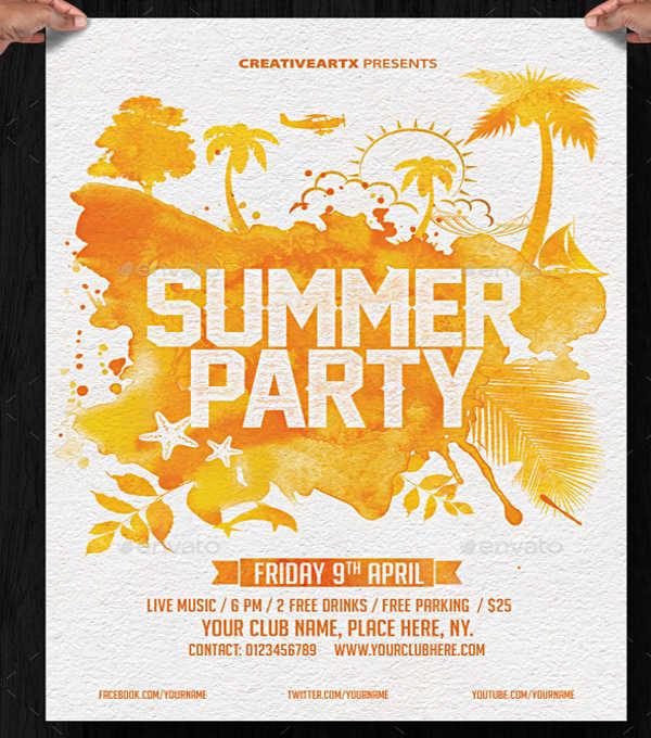 vintage summer festival flyer