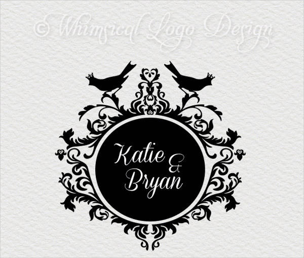 vintage wedding logo template