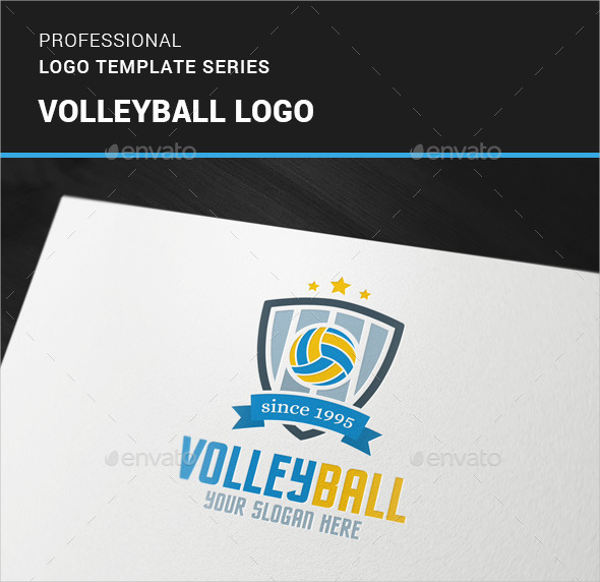 volley ball logo design