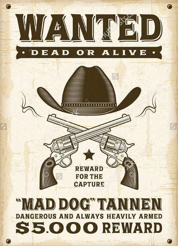 wanted western vintage poster