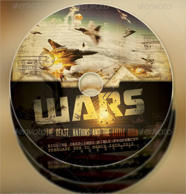 wars church flyer and cd template