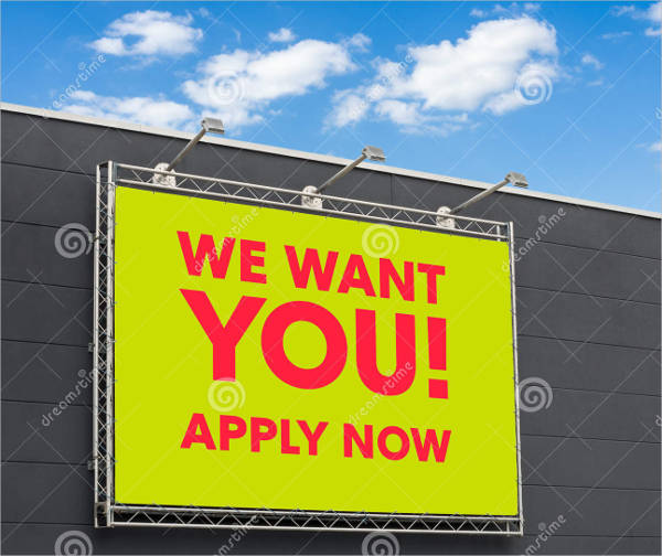 we want you poster on bill board