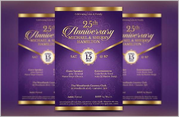 wedding anniversary event flyer
