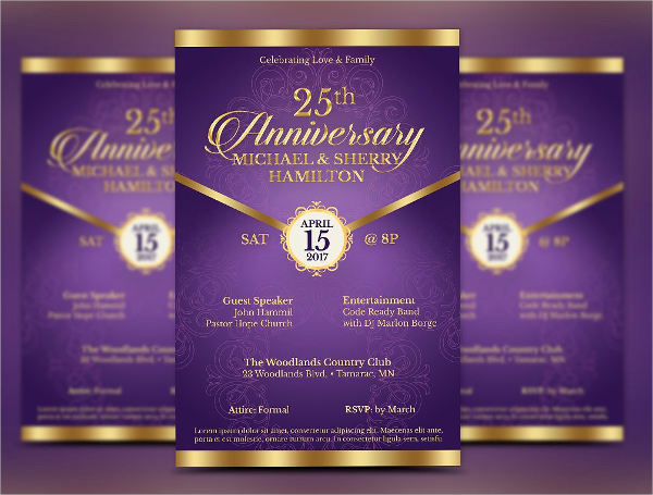 wedding anniversary invitation template
