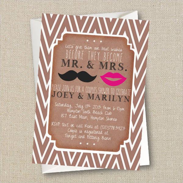wedding couple shower invitations