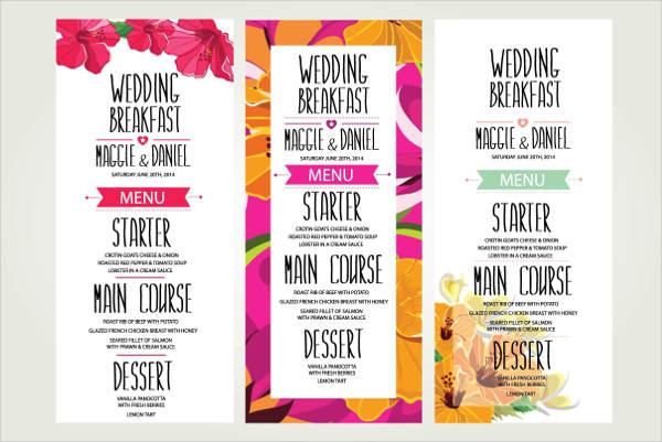wedding dinner menu template1