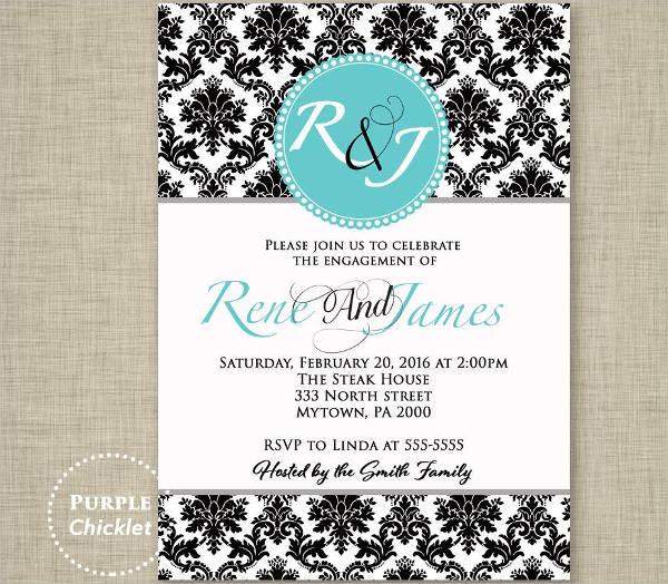wedding engagement dinner invitation