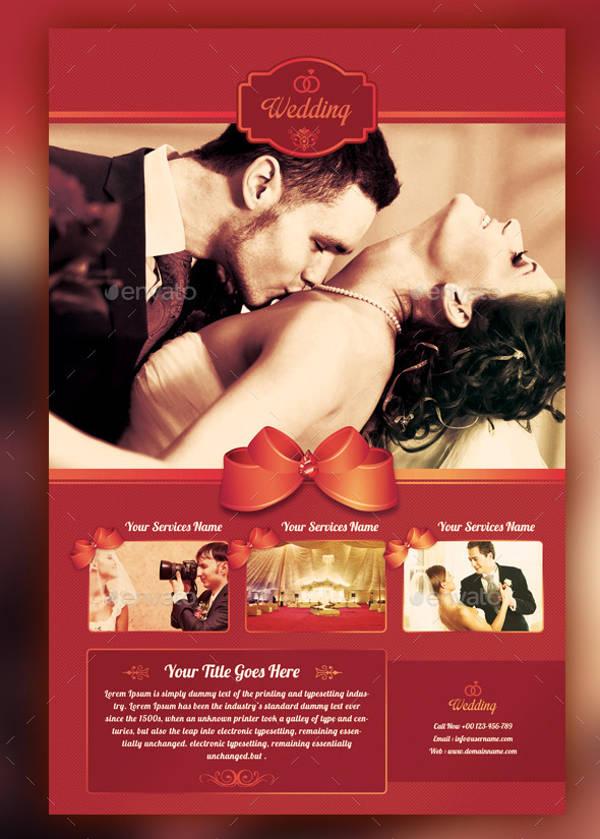wedding flyer design