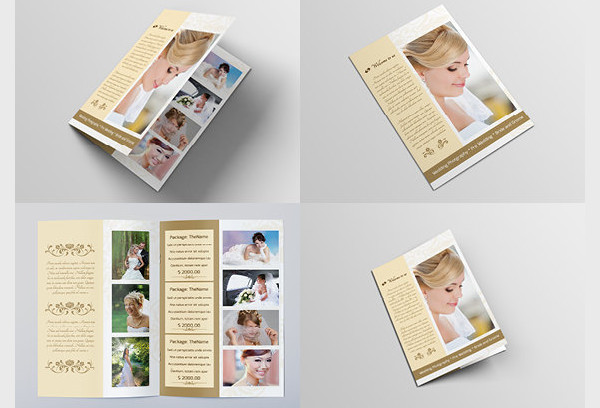 wedding photographer portfolio brochure