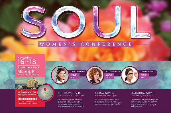 women's conference event flyer