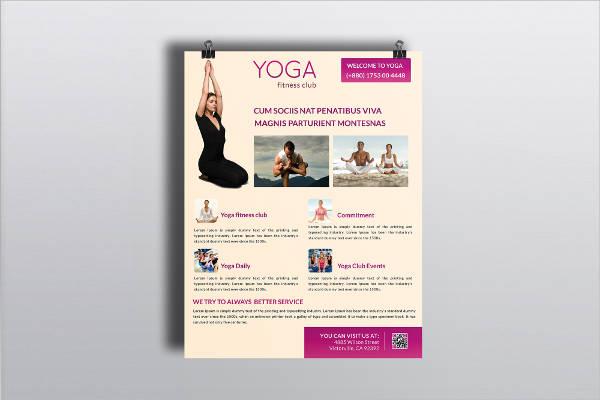 yoga business flyer