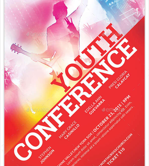 youth conference event flyer