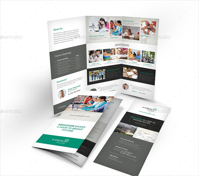 a4 academic education brochure
