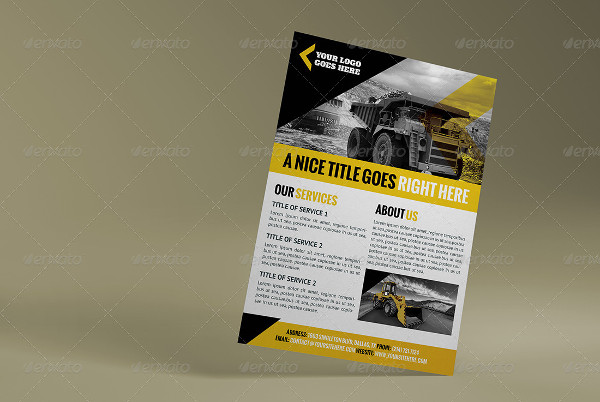 a4 construction business flyer