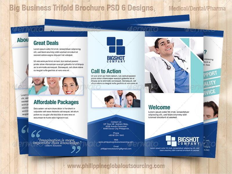 a4 corporate brochure psd