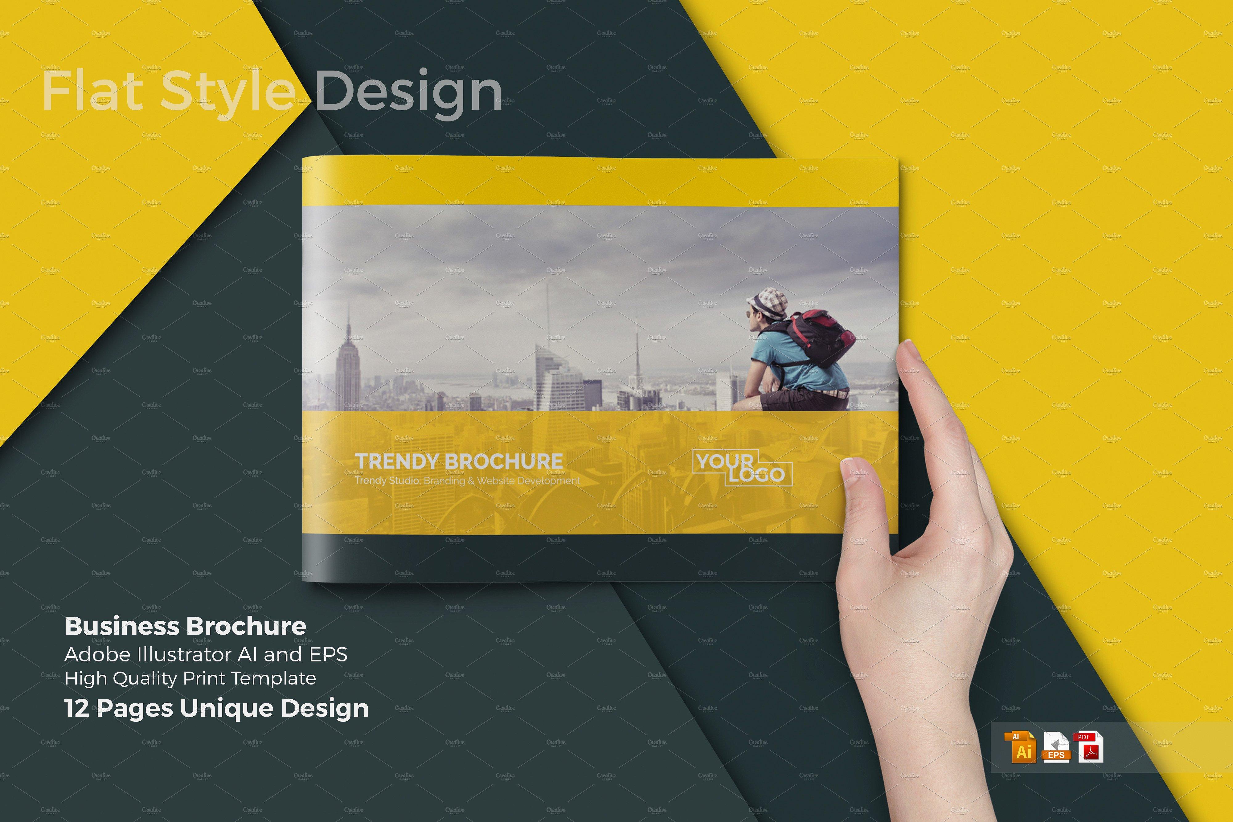 a4 horizontal brochure
