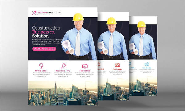 a4 size construction business flyer