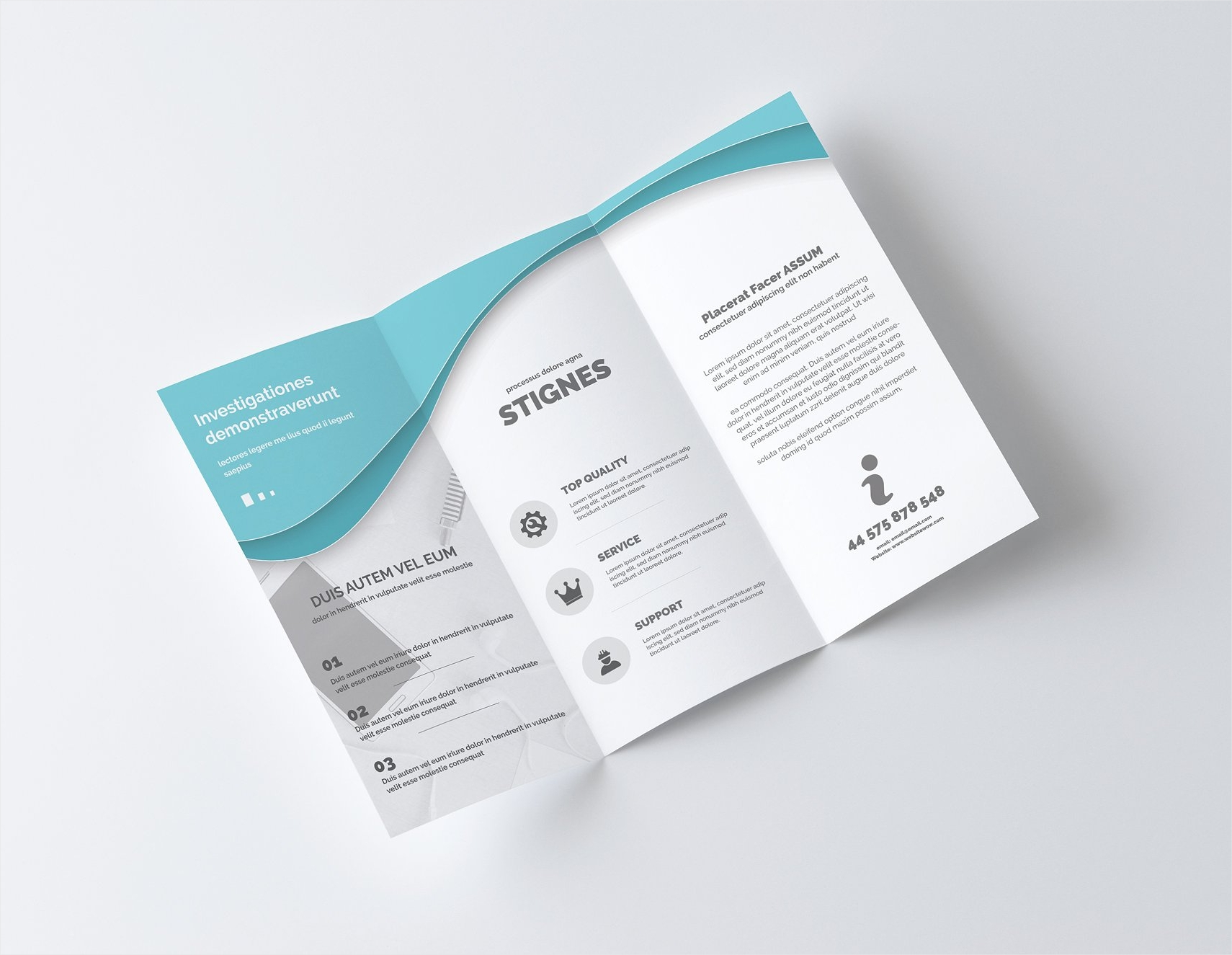 a4 trifold business