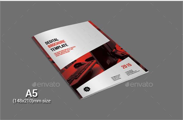 a5 digital brochure template