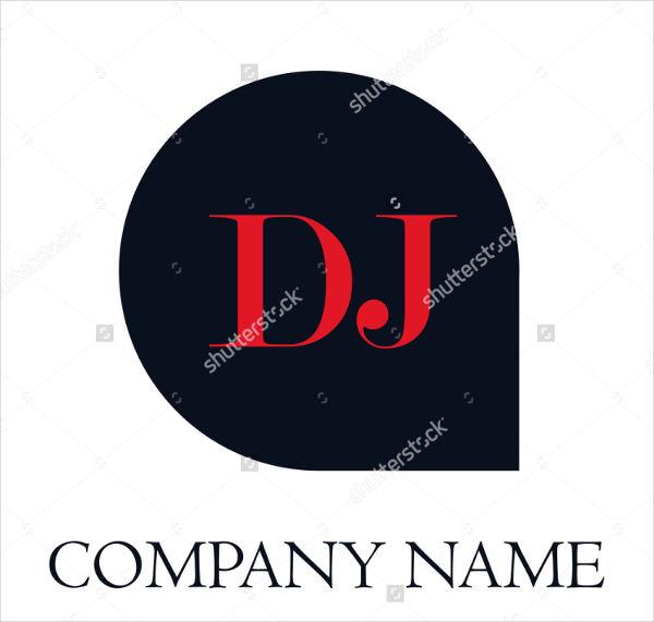 abstract dj company logo