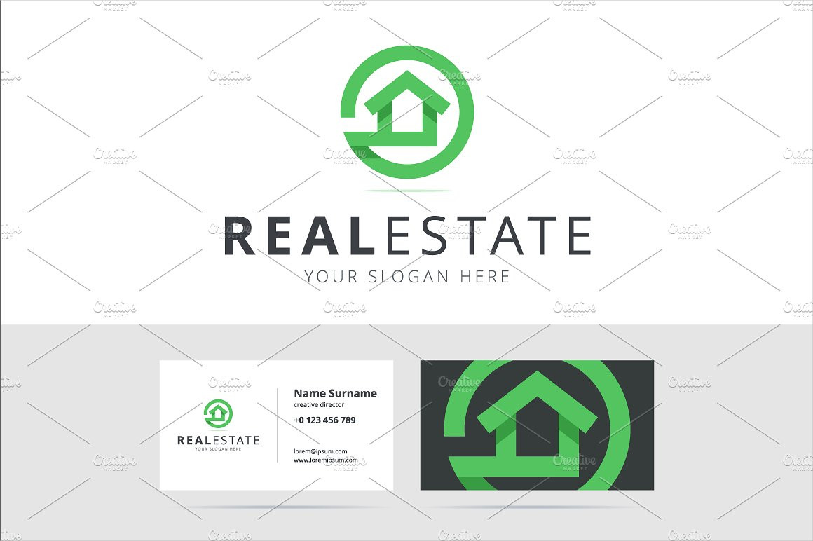 abstract real estate business logo