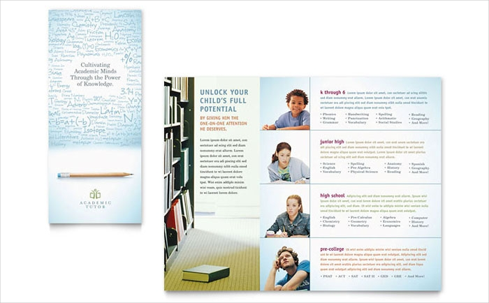 academic education trifold brochure